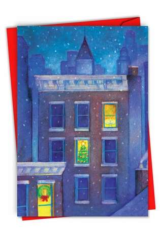 Creative Christmas Printed Card from NobleWorksCards.com - Urban Christmas