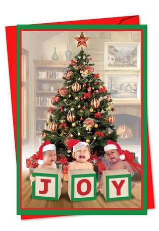 Hilarious Christmas Greeting Card from NobleWorksCards.com - Joy