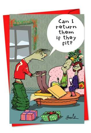 Big Pants: Hysterical Christmas Paper Card