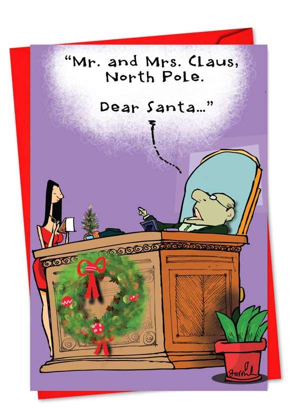 Dear Santa: Hilarious Christmas Printed Card