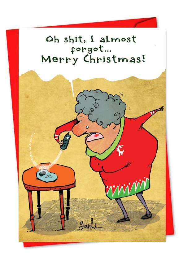 Shit Merry Christmas: Humorous Christmas Paper Greeting Card