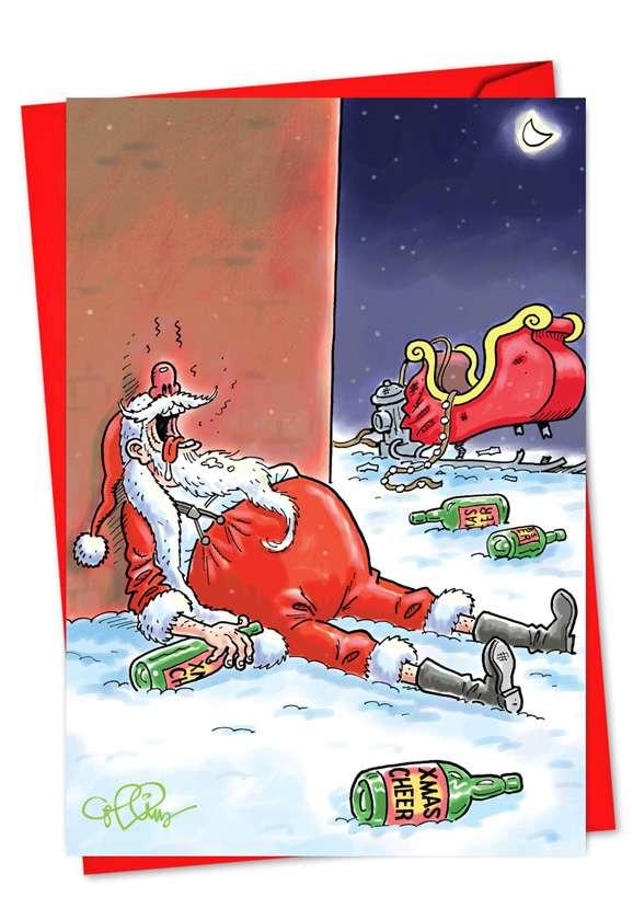 Christmas Cheer: Humorous Christmas Printed Card
