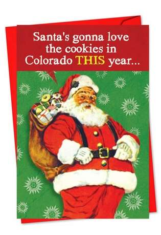 Hilarious Christmas Printed Greeting Card from NobleWorksCards.com - Colorado Cookies