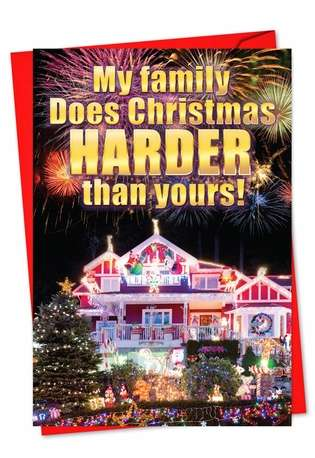 Christmas Harder Than You: Humorous Christmas Paper Card
