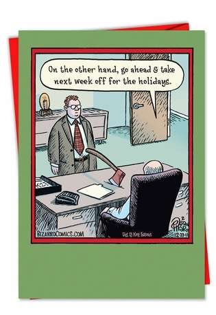 Holiday Week Off: Hilarious Christmas Paper Greeting Card
