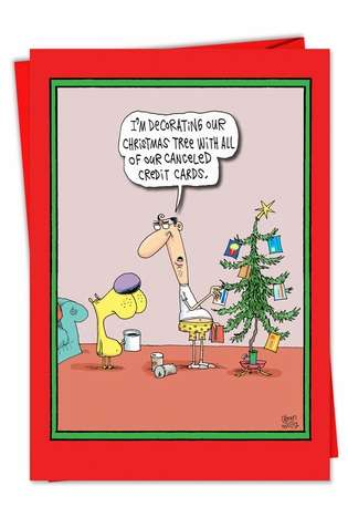 Canceled Credit Cards: Hysterical Christmas Printed Card
