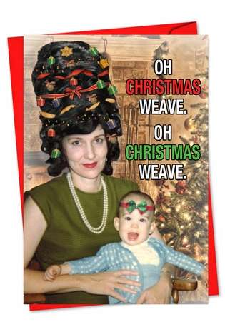Hysterical Christmas Paper Greeting Card from NobleWorksCards.com - Christmas Weave