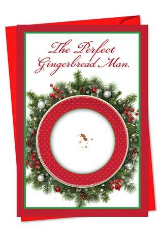 Hysterical Christmas Greeting Card from NobleWorksCards.com - Perfect Ginger Man