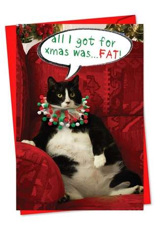 Hilarious Christmas Paper Card from NobleWorksCards.com - Got Fat