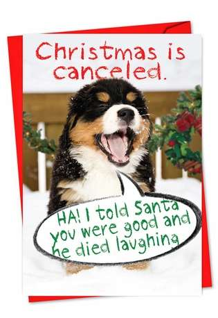 Christmas Is Canceled: Humorous Christmas Greeting Card