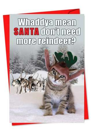 No More Reindeer: Hilarious Christmas Printed Card