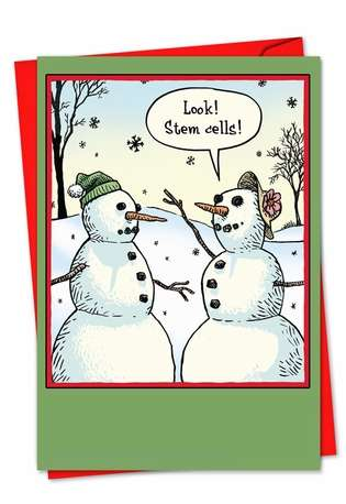 Hilarious Blank Printed Card by Dan Piraro from NobleWorksCards.com - Stem Cells