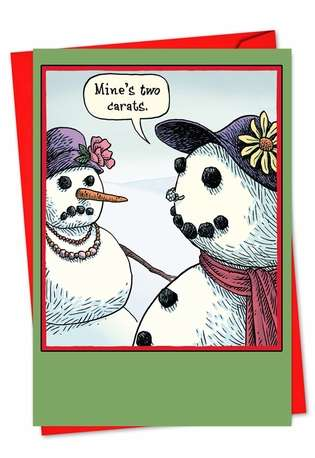 Hilarious Christmas Paper Card by Dan Piraro from NobleWorksCards.com - Two Carats