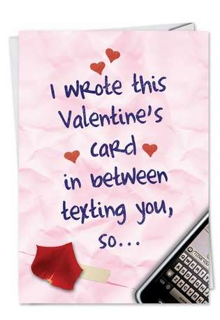 Hysterical Valentine's Day Greeting Card from NobleWorksCards.com - In Between Texts