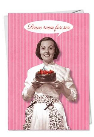 Humorous Valentine's Day Greeting Card from NobleWorksCards.com - Room for Sex