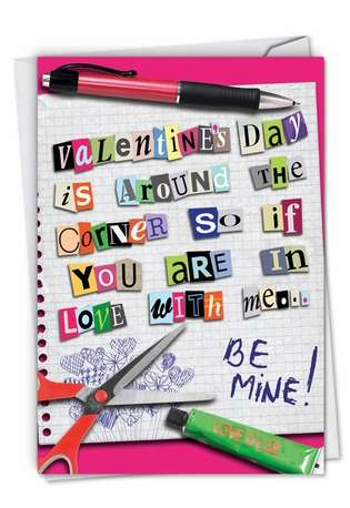 Hilarious Valentine's Day Printed Greeting Card from NobleWorksCards.com - Time to Speak Up