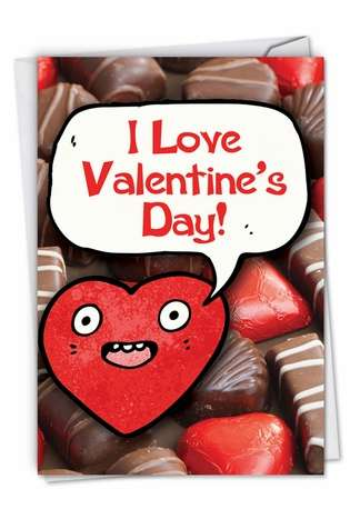 Hysterical Valentine's Day Paper Card from NobleWorksCards.com - Chocolate Sale