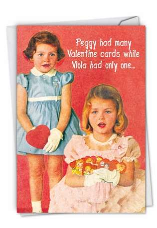 Funny Valentine's Day Paper Card from NobleWorksCards.com - Peggy Is a Whore