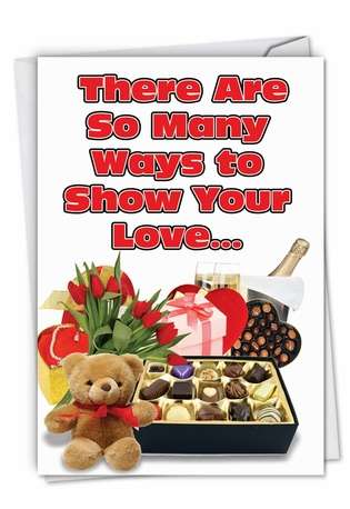 Hilarious Valentine's Day Paper Card from NobleWorksCards.com - So Many Ways