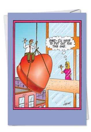 Hilarious Blank Greeting Card by Tom Cheney from NobleWorksCards.com - Have to Put Out