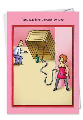 Hysterical Valentine's Day Paper Card by Stan Eales from NobleWorksCards.com - Mood For Love