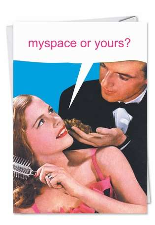 Funny Valentine's Day Printed Greeting Card from NobleWorksCards.com - MySpace