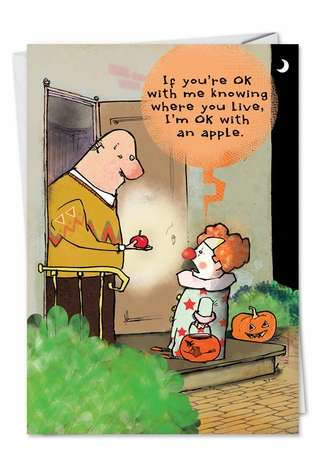 Hysterical Halloween Printed Card from NobleWorksCards.com - Know Where You Live