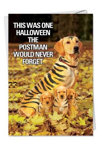 Humorous Halloween Printed Card from NobleWorksCards.com - Tiger Mom