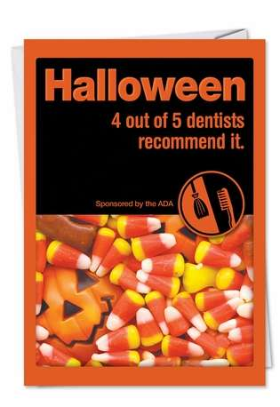 Hilarious Halloween Printed Greeting Card from NobleWorksCards.com - Halloween Recommended