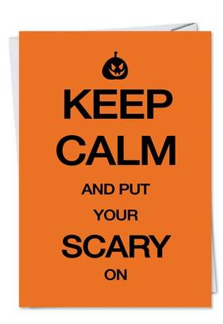 Hilarious Halloween Paper Greeting Card from NobleWorksCards.com - Scary On