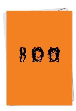 Funny Halloween Greeting Card by Michael Broderick from NobleWorksCards.com - Naughty Boo