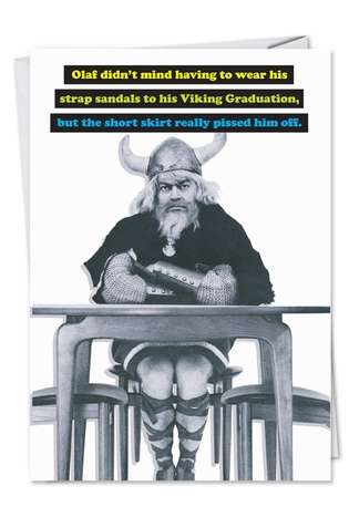 Funny Graduation Printed Card from NobleWorksCards.com - Viking Graduation