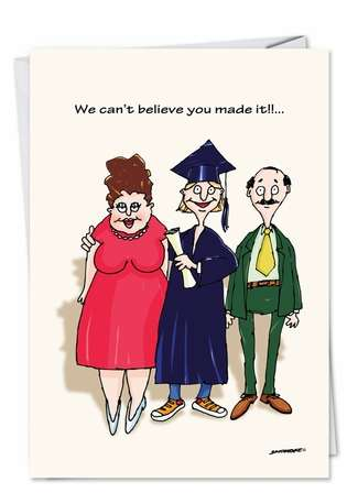 Hysterical Graduation Printed Card by David Skidmore from NobleWorksCards.com - Keg Parties
