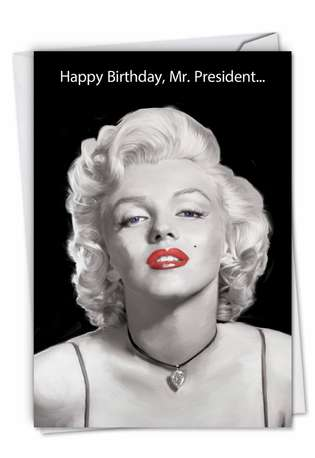 Funny Birthday Printed Greeting Card by Jadei Graphics from NobleWorksCards.com - Mr. President