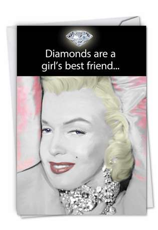 Humorous Birthday Greeting Card by Jadei Graphics from NobleWorksCards.com - Girl's Best Friend