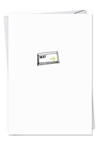 Funny All Occasions Greeting Card from NobleWorksCards.com - Next Button