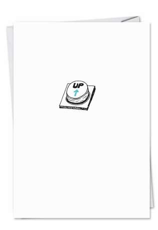 Hilarious All Occasions Printed Card from NobleWorksCards.com - Up Button