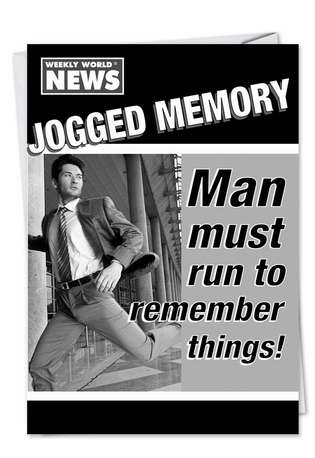 Jogged Memory: Humorous Birthday Greeting Card