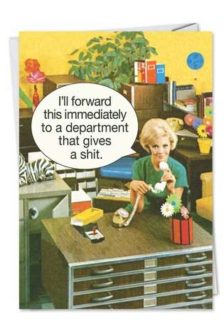Department Gives a Shit: Funny Blank Printed Card