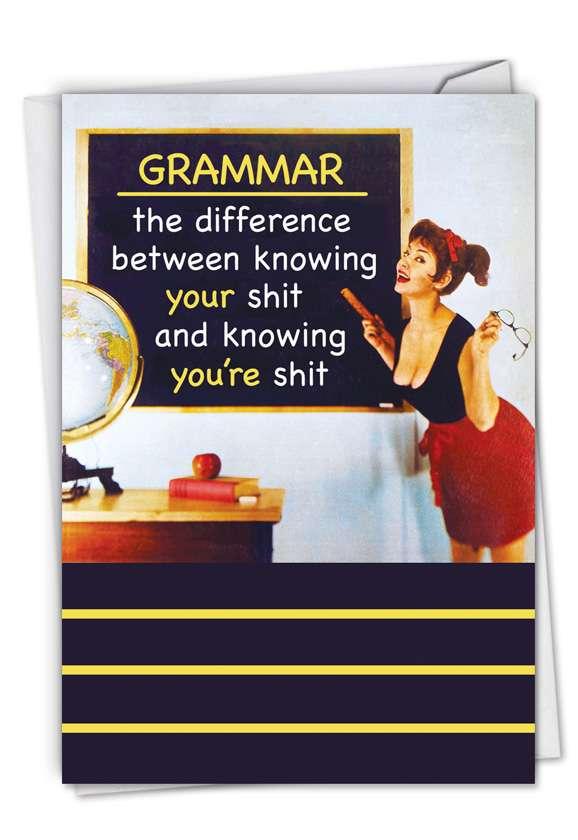 Humorous Blank Paper Card by Ephemera from NobleWorksCards.com - Grammar