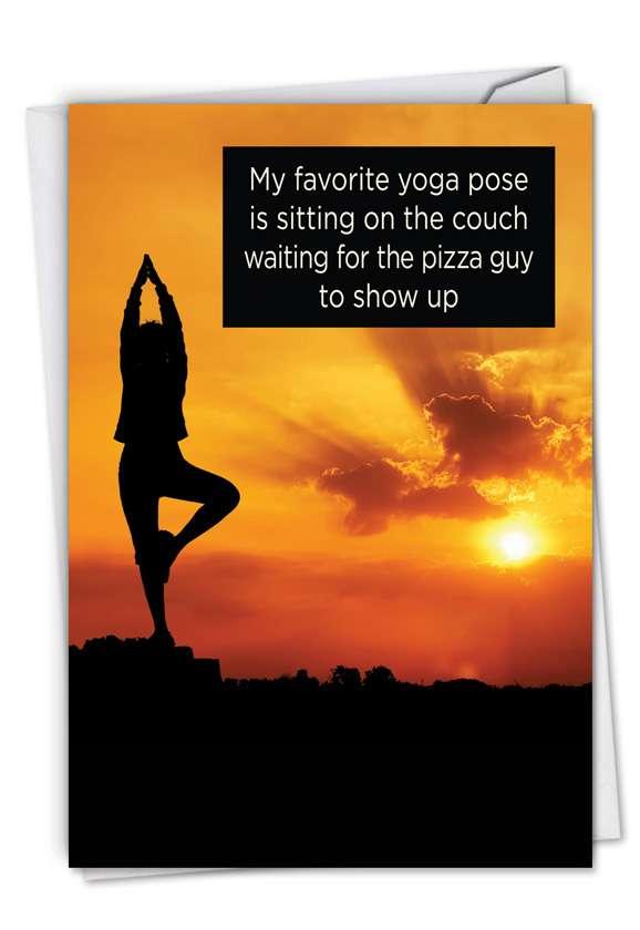 Funny Birthday Greeting Card by Ephemera from NobleWorksCards.com - Favorite Yoga Pose