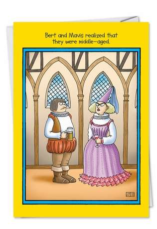 Middle Ages: Hilarious Birthday Paper Greeting Card