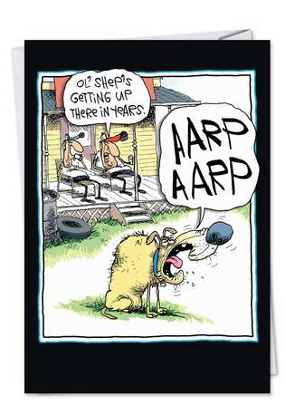 Hilarious Birthday Printed Greeting Card by Glenn McCoy from NobleWorksCards.com - AARP AARP