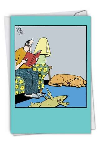 Humorous Blank Printed Greeting Card by Leigh Rubin from NobleWorksCards.com - Dog Fart