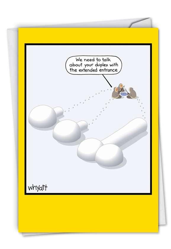 Hysterical Birthday Printed Greeting Card by Tim Whyatt from NobleWorksCards.com - Igloo Duplex