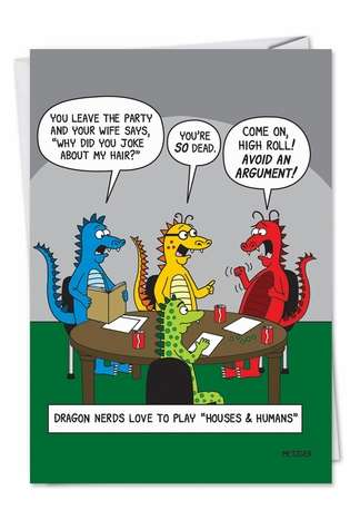Hysterical Birthday Greeting Card by Scott Metzger from NobleWorksCards.com - Dungeons and Dragons