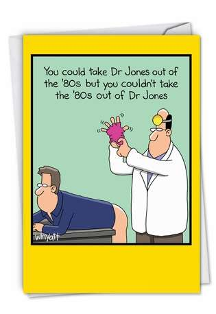 Funny Blank Greeting Card by Tim Whyatt from NobleWorksCards.com - Dr. Jones