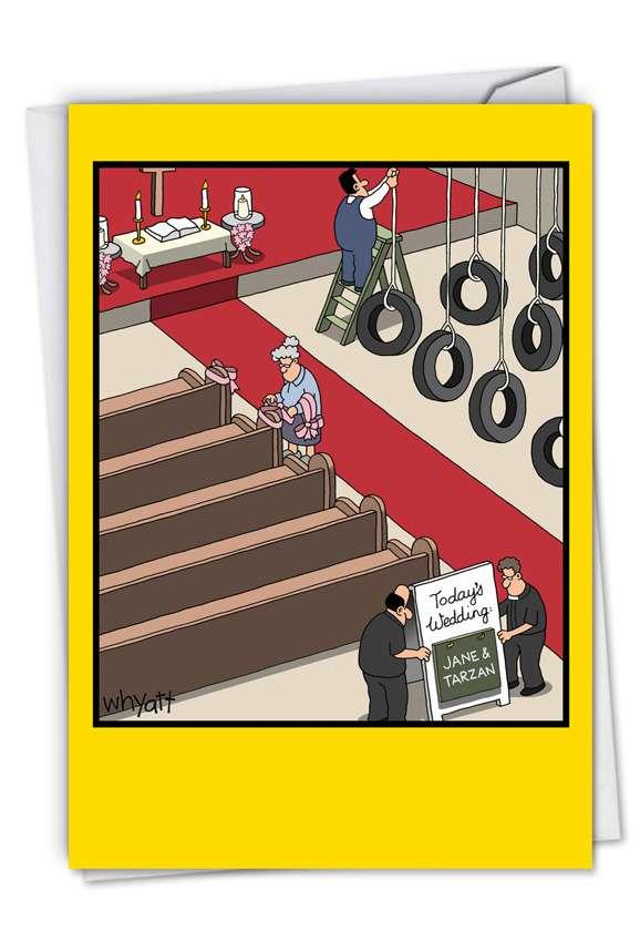 Hysterical Blank Printed Greeting Card by Tim Whyatt from NobleWorksCards.com - Jane & Tarzan