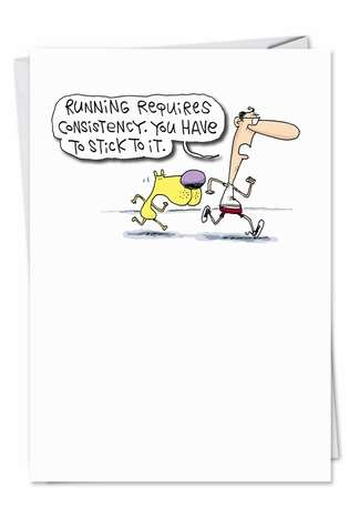 Hilarious Birthday Paper Greeting Card by Glenn McCoy from NobleWorksCards.com - Beer Motivation