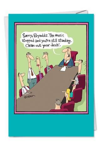 Hysterical Birthday Paper Greeting Card by Glenn McCoy from NobleWorksCards.com - Musical Chairs